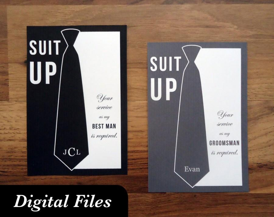 Will you be my groomsman card printable digital files will you be my groomsman card printable digital files necktie junglespirit Image collections