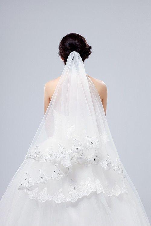Hochzeit - Beauty One-layer Lace Veil