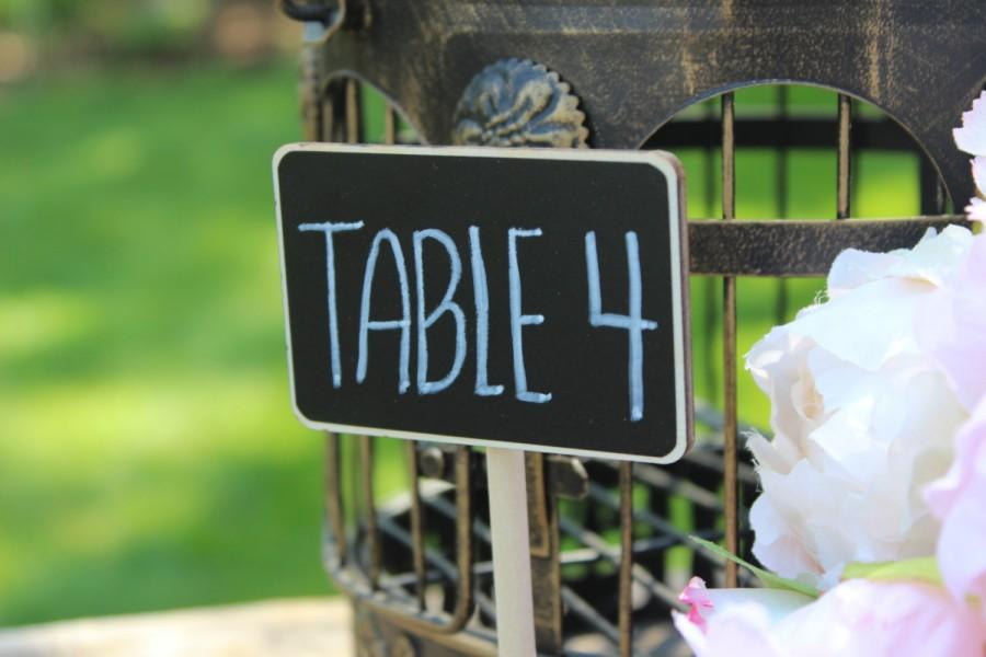 Hochzeit - Small Chalkboard Signs for Weddings Small Chalkboards for Wedding Small Rustic Chalkboard Small Chalkboard Sign Wedding Table Numbers