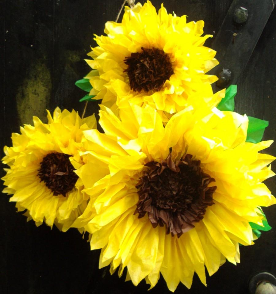 Hochzeit - Set of 3 Giant Sunflowers - Perfect Decorations for Summer Wedding,Birthday Party&Baby Shower