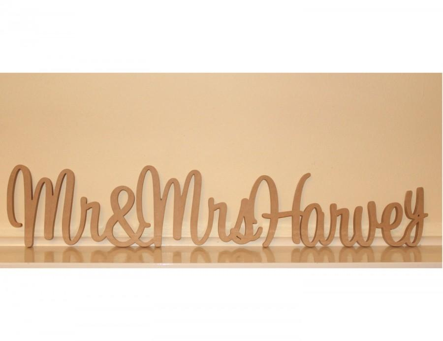 Свадьба - Personalised Mr & Mrs Wedding sign with surname
