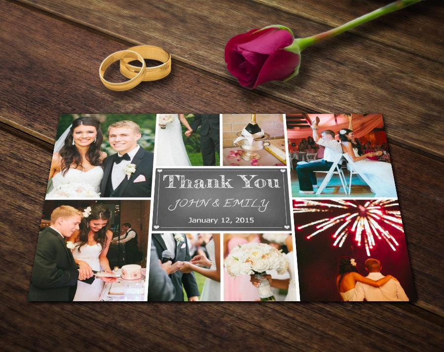 Wedding Thank You Card Template  Photoshop Templates  Photography