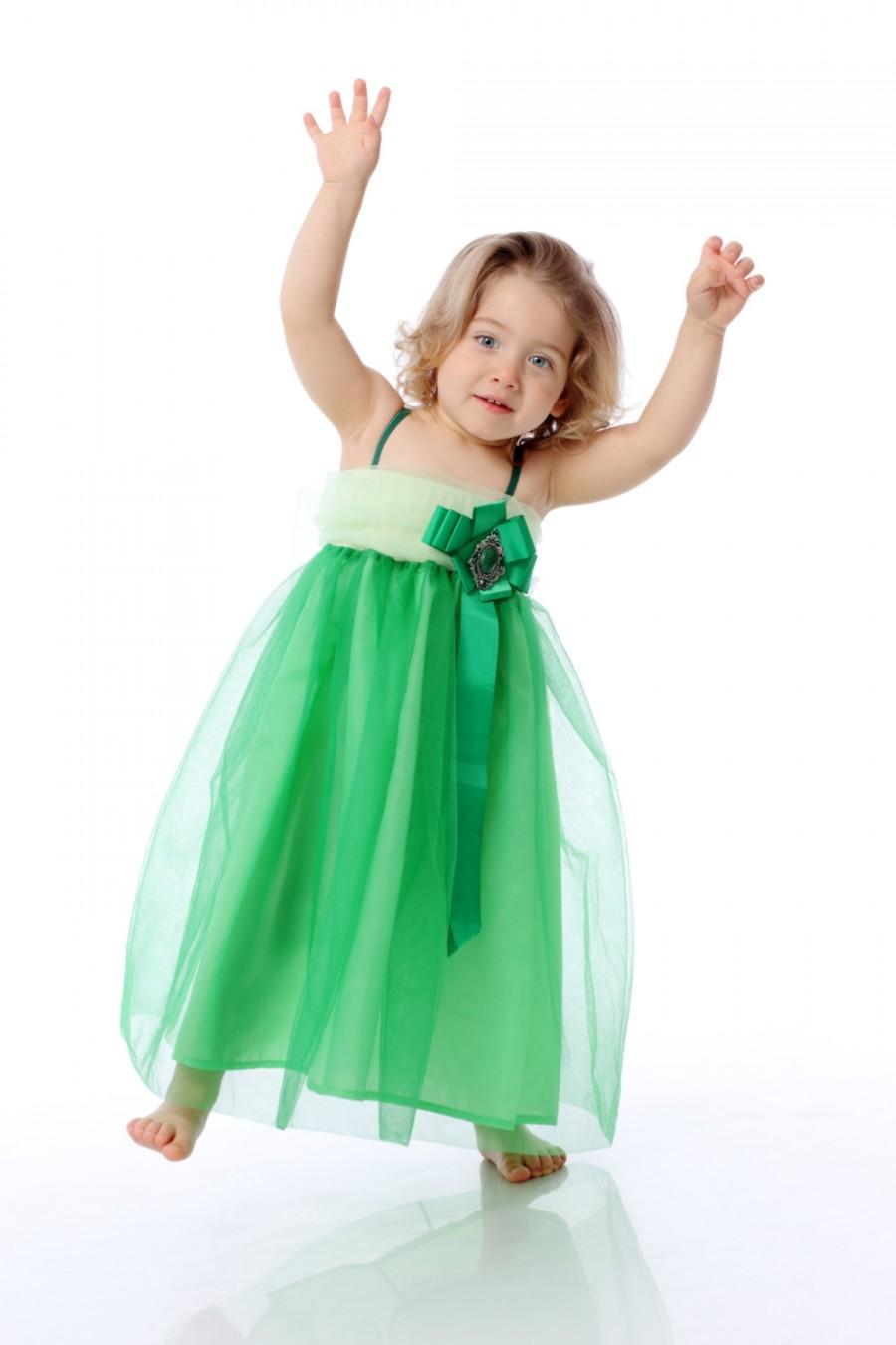 Boda - Green Girl dress, Ariel Dress, Kid Dress, Toddler Dress, Tutu Dress, Fairy Dress, Girl Dress, Princess Dress, Girl Gown, Birthday Dress