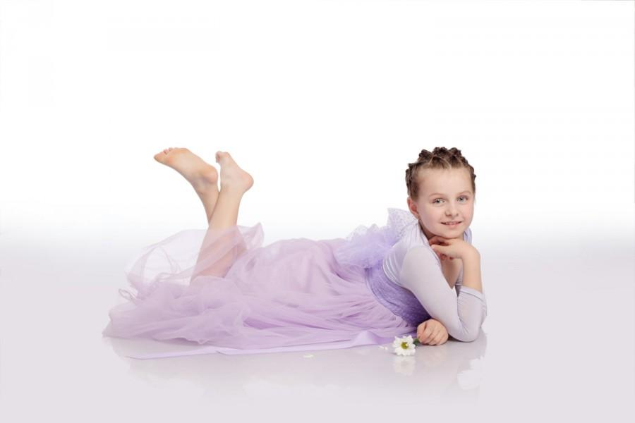 Mariage - Princess Sofia dress, Lilac Girl Gown, Tulle Girl Dress, Lavender Kid Dress, Princess Tutu Dress, Birthday Dress
