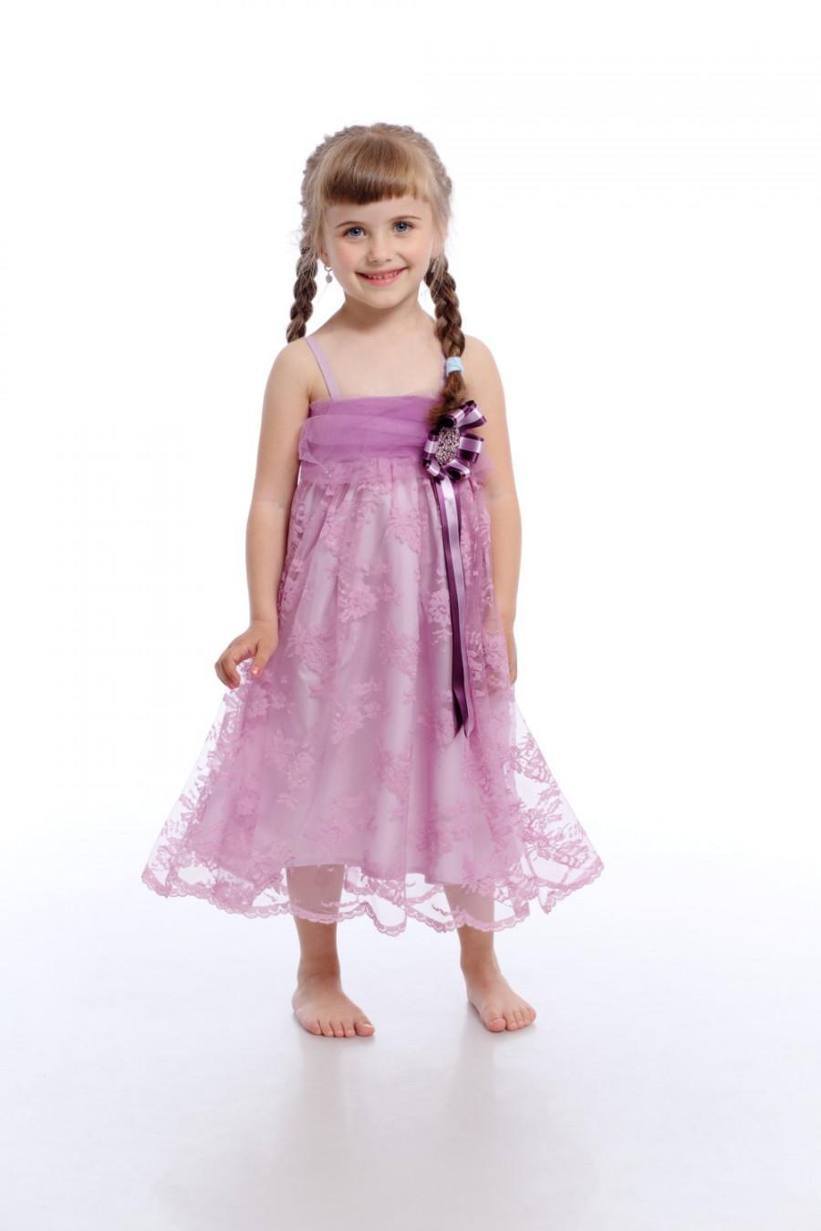 Rapunzel Dress , Lilac Lace Dress, Flower Girl Dress, Kid Lace Dress ...