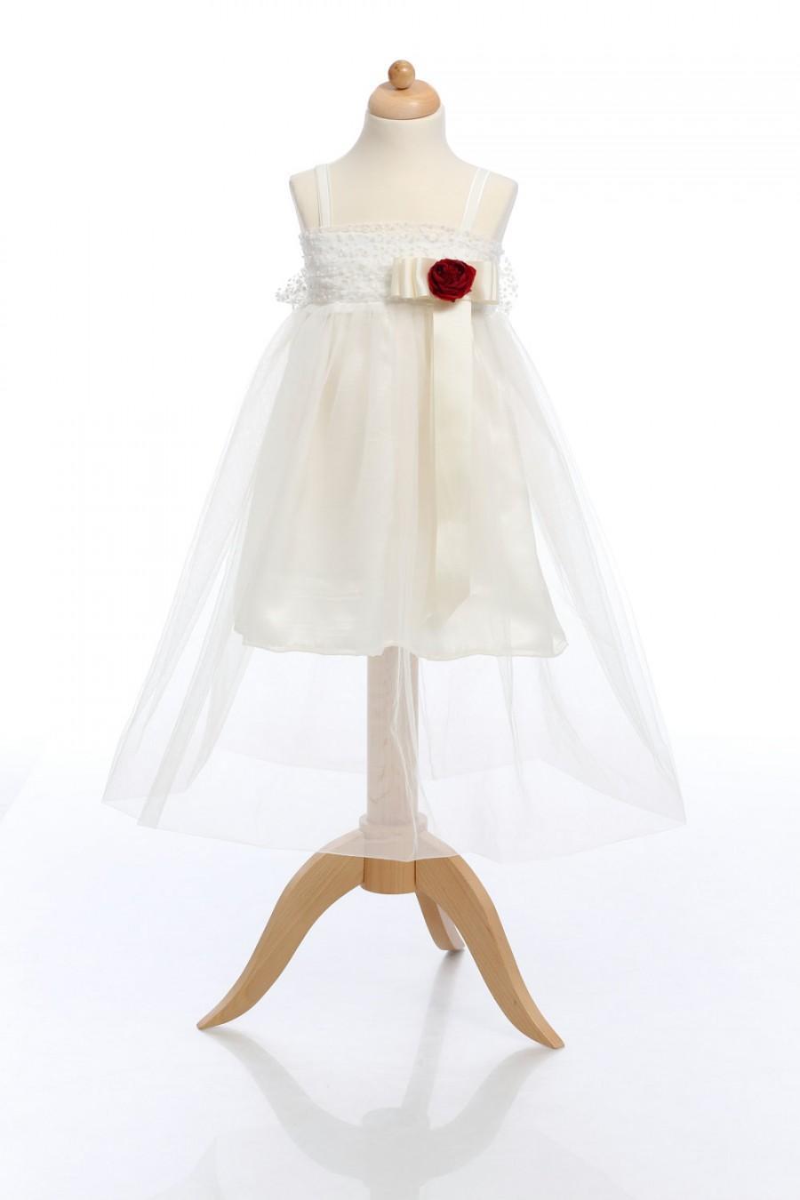 Mariage - Ivory Girl Dress, Baby Girl Dress, Ivory Tulle Dress, Toddler Dress, Fairy Tutu Dress, Christening Dress, Birthday Dress, Communion Kid