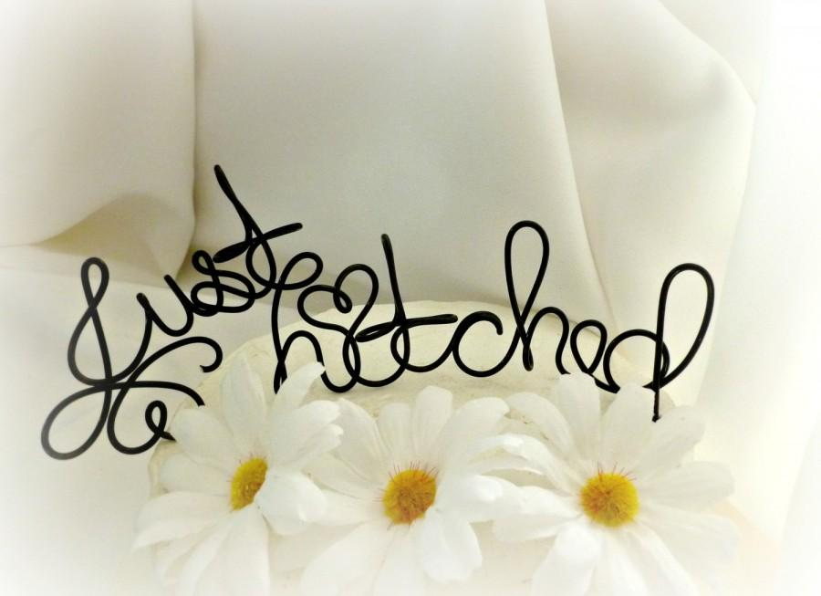 Mariage - Rustic Just Hitched Cake Topper