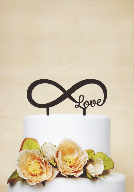 Hochzeit - Infinity Cake Topper,Wedding Cake Topper,Love Cake Topper,Custom Cake Topper,Rustic Cake Topper,Unique Cake Topper P138