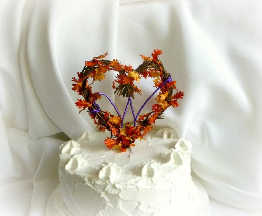 Свадьба - Fall Wedding Decor, Personalized Vine Cake Topper