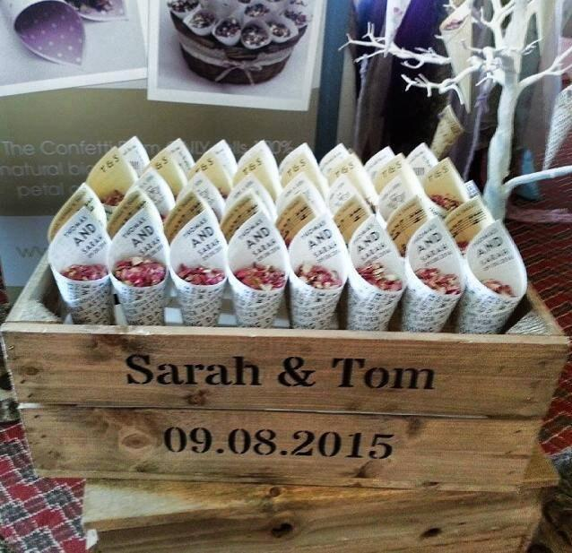 Personalised Rustic Wedding Crate No Flip Flops Included