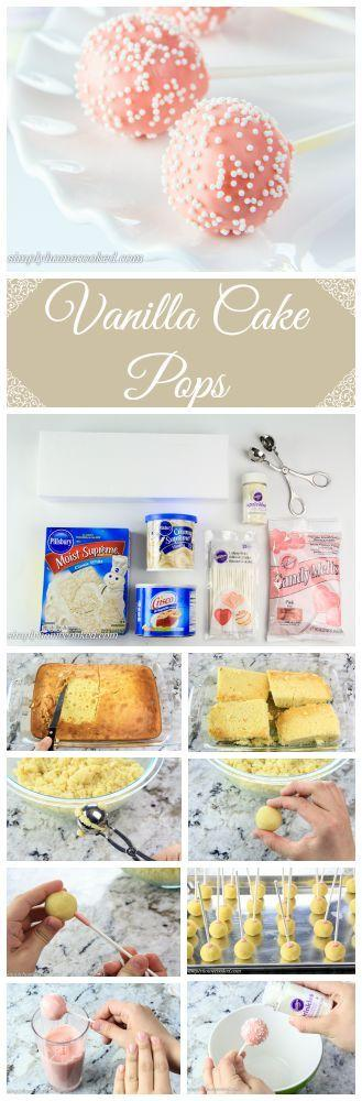 زفاف - Vanilla Cake Pops