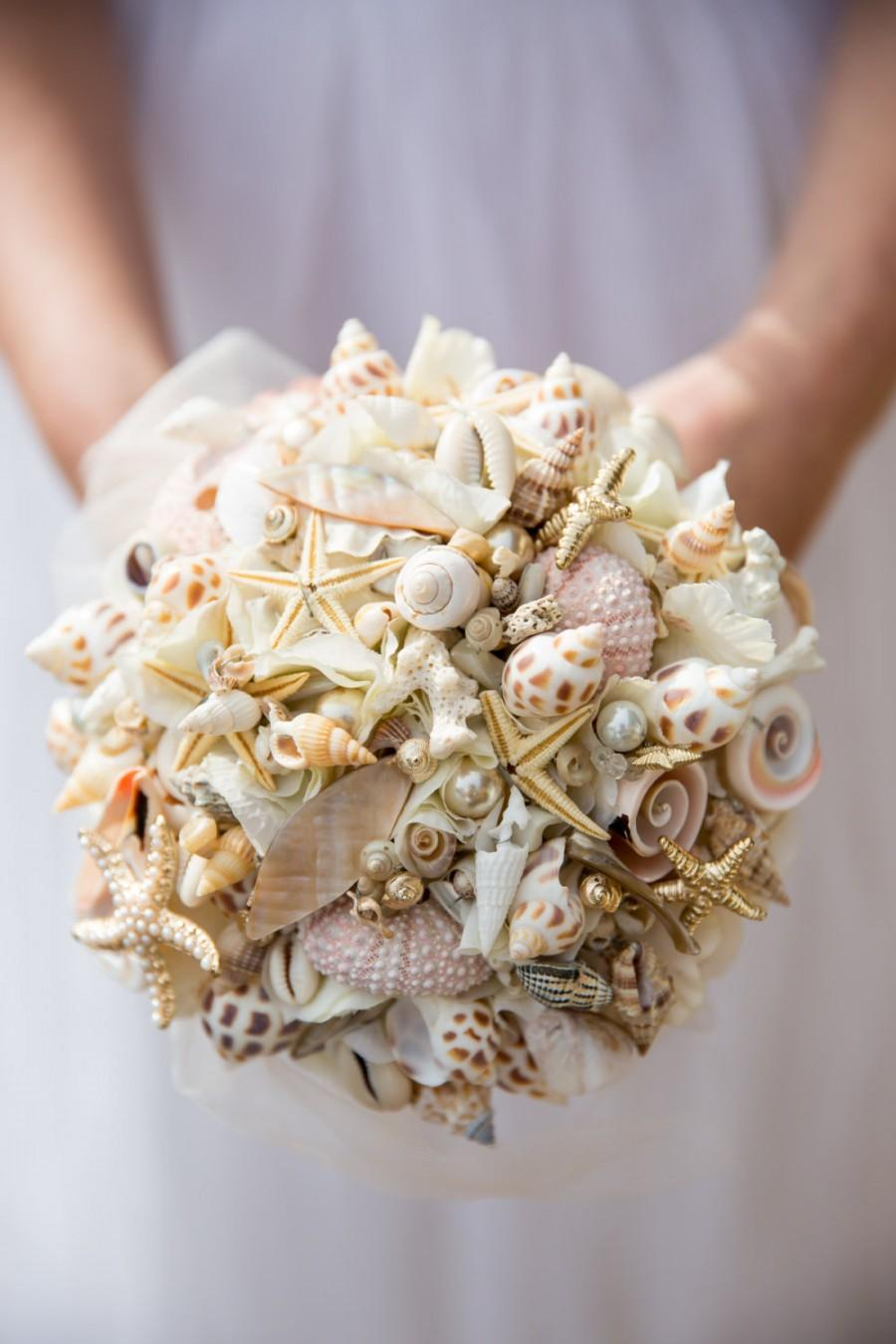 Свадьба - beach inspired shell bouquet