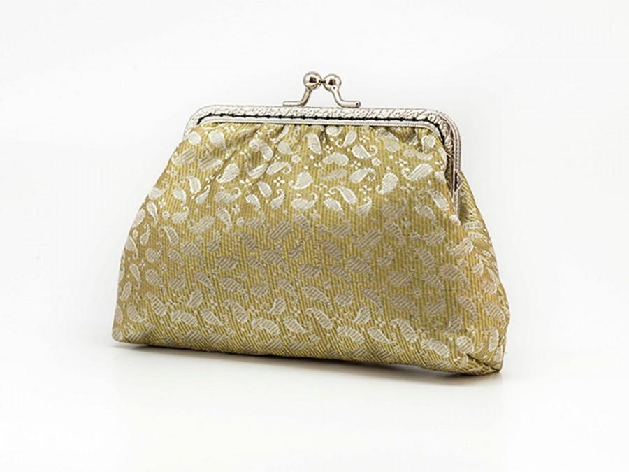 Mariage - Golden Elegant Clutch Purse - Chic Bridesmaid Clutch Purse - Wedding Clutch Purse - Evening Clutch Purse