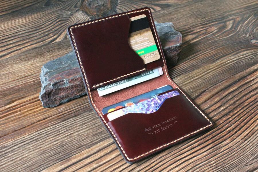 card holder groomsmen gift for men leather wallet leather card wallet mens gift for women slim wallet card case credit card wallet for dad - Leather Card Holder Wallet