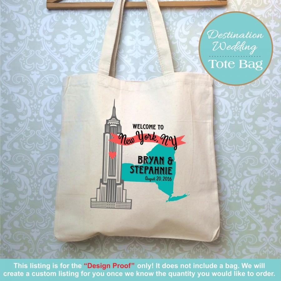 new york destination wedding bag, design proof only, empire state