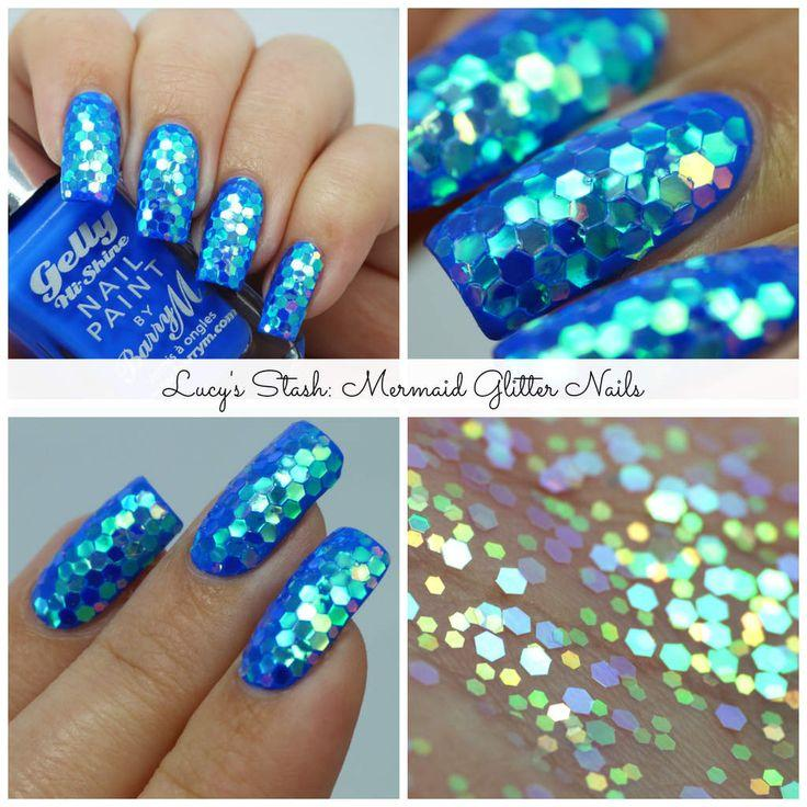 Hochzeit - Ooops, Did I Just Put Mermaids In Shame? Mermaid Glitter Nails (Lucy's Stash)