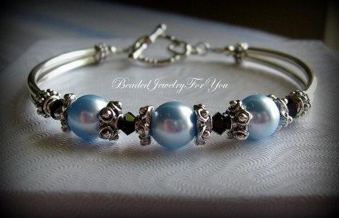 زفاف - Bridesmaid Bracelet: Wedding Jewelry, Bridesmaid Jewelry, Wedding Bracelet, Pearl Wedding Jewelry, Something Blue, Bridal Party Gift, Bride