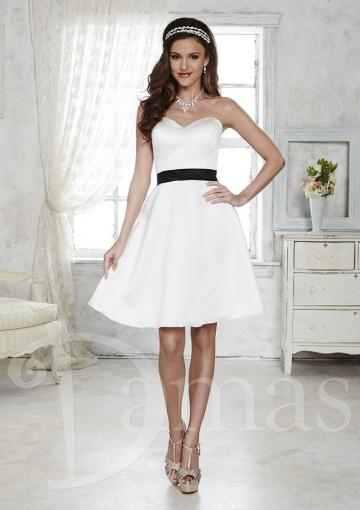 Wedding - Sweetheart Knee Length A-line Sleeveless Satin Ivory Ruched