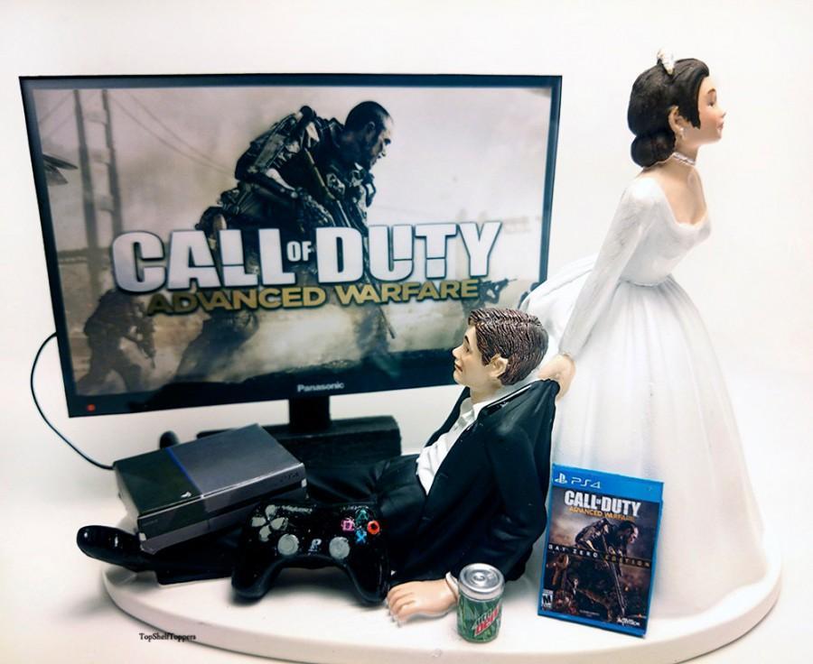 Mariage - Funny Wedding Cake Topper Custom COD ADV War Video Gamer  Xbox One/PS4