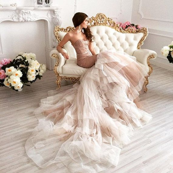 Свадьба - Wedding Dress, Wedding Dress 2 In 1, Mermaid Wedding Dress, Short Wedding Dress