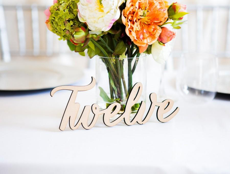 Table number words rustic wooden words for table number wedding table number words rustic wooden words for table number wedding decor rustic southern wedding item lwn100 junglespirit Choice Image