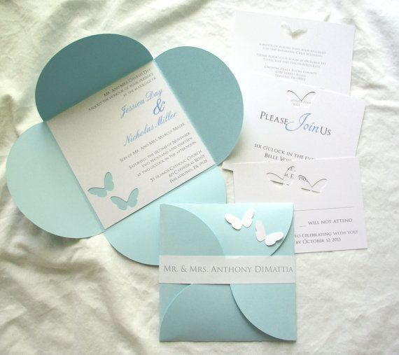 Wedding Erfly Invitations