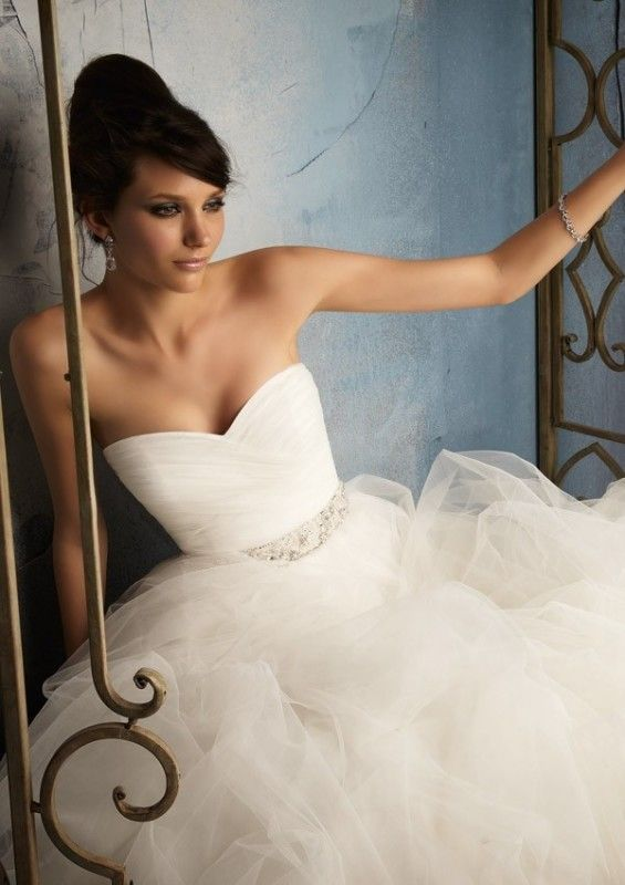 زفاف - A-Line Sweetheart Pleat Bridal Gown