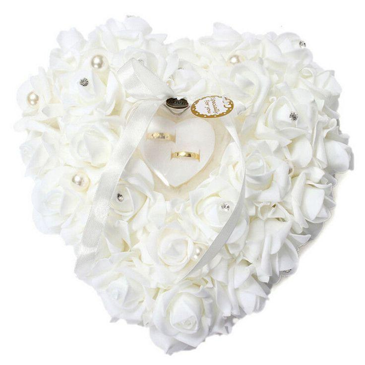 Свадьба - Romantic Wedding Jewelry Case Ring Bearer Pillow Holder