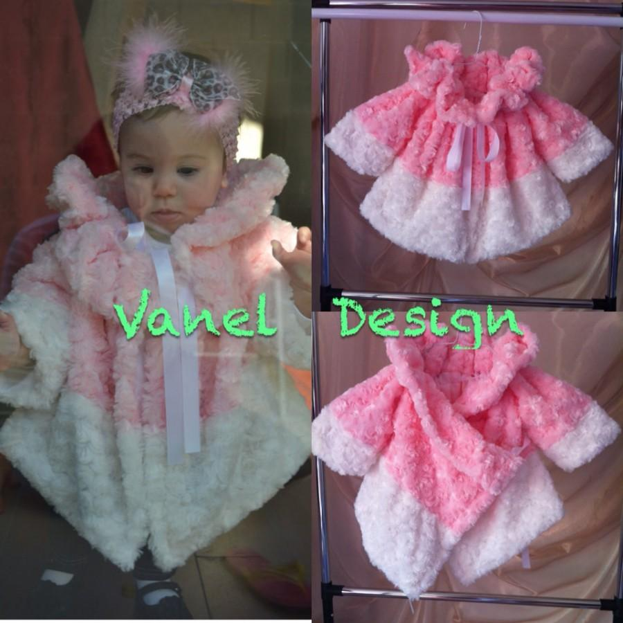little girl faux fur pink coat baby toddler clothing winter autumn