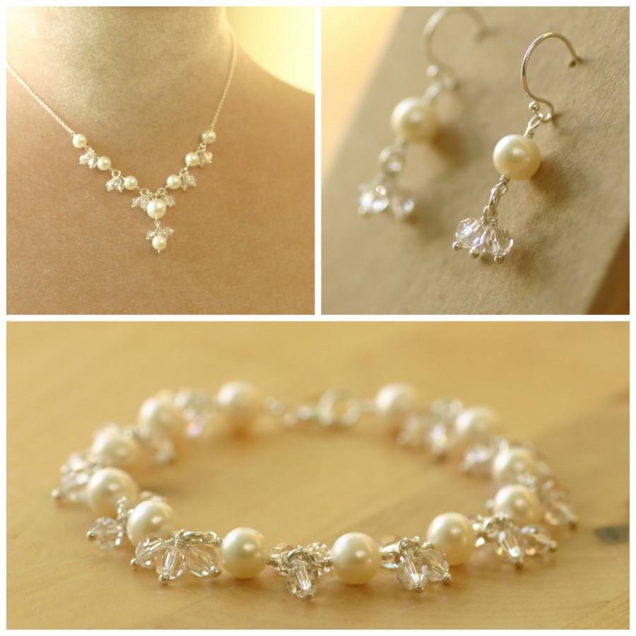 Bridal Jewelry Set Wedding Pearl Jewellery