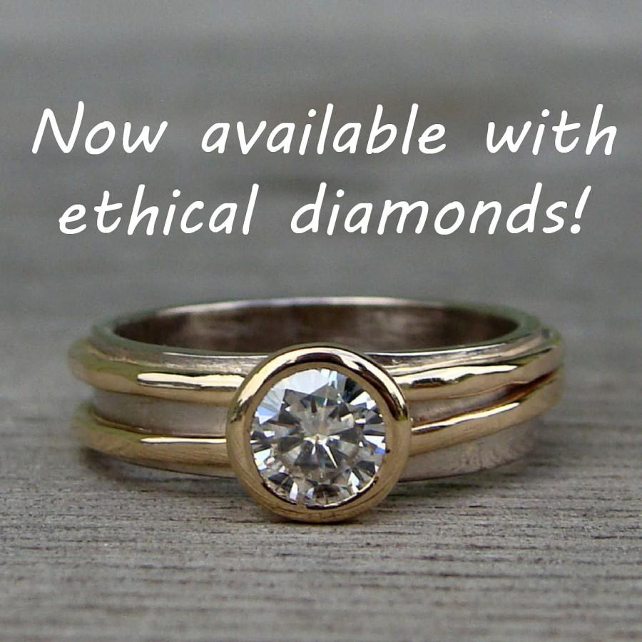 chic band recycled gold bezel set diamondrecycled with ring small vnddowm rings smallest diamond engagement