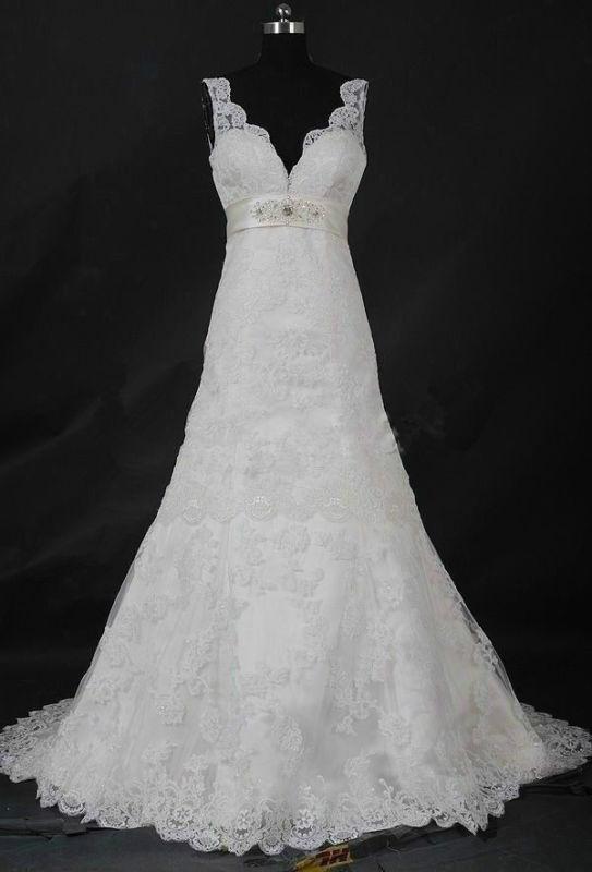 زفاف - New white/ivory Bridal Gown Wedding Dress Custom Size 2-4-6-8-10-12-14-16-18+