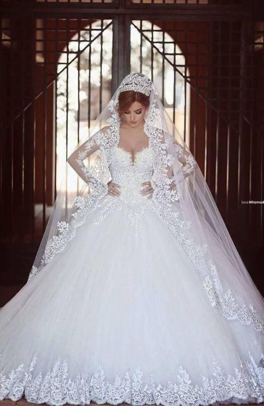 Mariage - New White/Ivory Lace Wedding Dress Bridal Ball Gown Custom Size 6-8-10-14-16+++