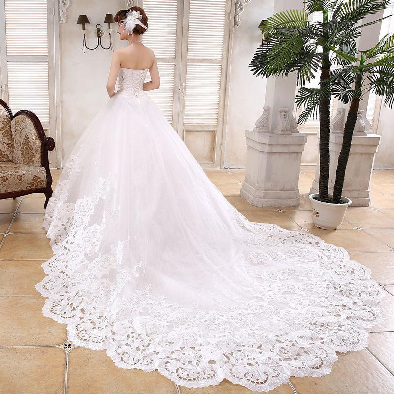 Mariage - New White/Ivory Lace Wedding dress Bridal gown Custom Size 4 6 8 10 12 14 16 18+