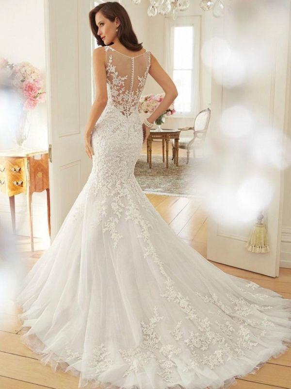Mariage - White/ivory Wedding dress Bridal Gown custom size 4-6-8-10-12-14-16