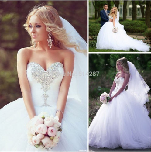 Wedding - 2016 New white/ivory wedding dress bridal gown custom size 4-6-8-10-12-14-16-18+