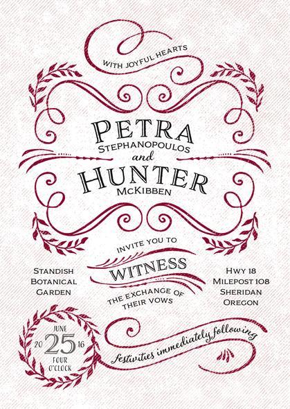 Wedding - Joy of Scrolls wedding invitations