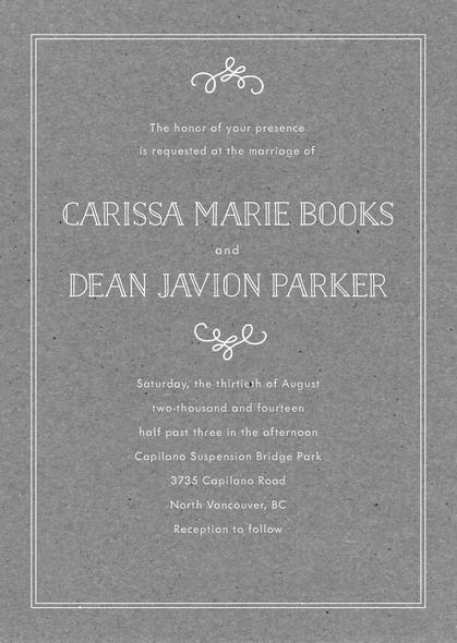 زفاف - Vintage Kraft wedding invitations