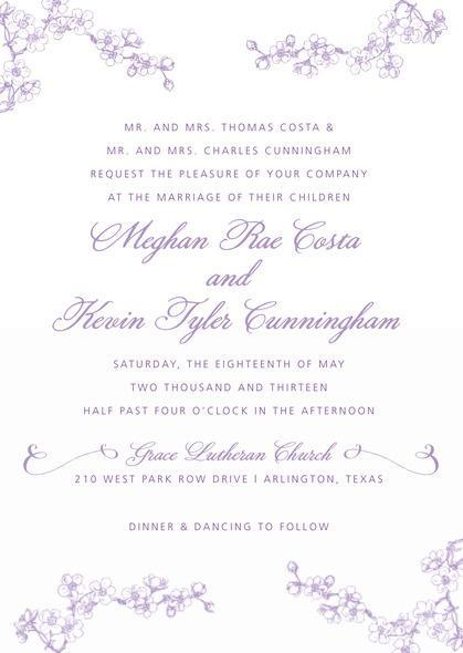 زفاف - Spring wedding invitations