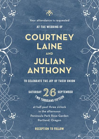 زفاف - Garden Vines wedding invitations