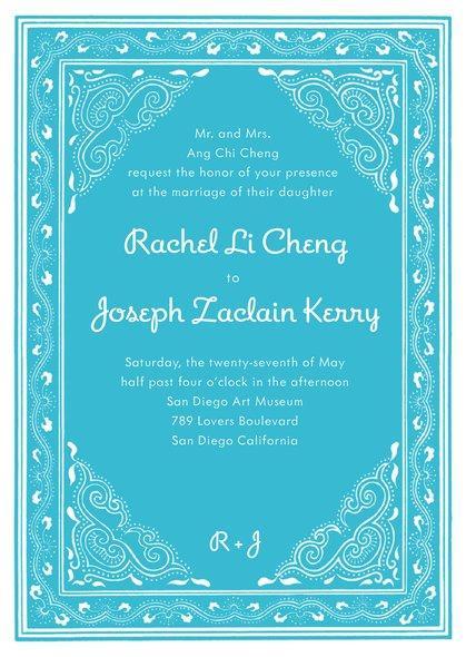 Mariage - Mai Li wedding invitations