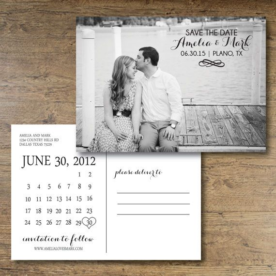 Printable Save The Date Postcard Calendar Postcard Calendar Save – Wedding Save the Date Postcards