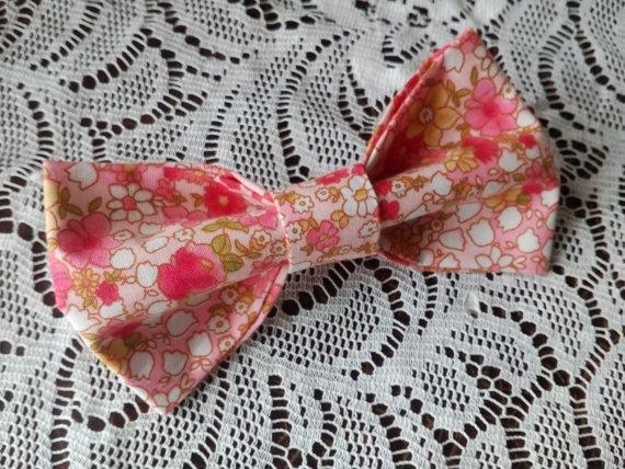 Wedding - pink floral bow tie shabby chic wedding backyard tie country style necktie farm gatsby ties rustic weddings boda elegante lamentable Чы8