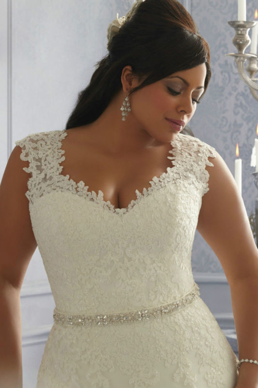 Plus Size Whiteivory Bridal Gown Wedding Dress Custom Size Colour