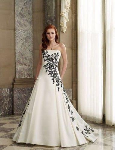 Long black and white wedding dresses opinion