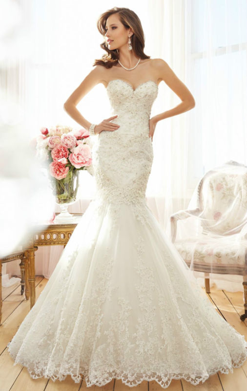 Wedding - 2015 White/Ivory chiffion Wedding Dress Bridal Gown custom Size 4-6 8 10 12 14