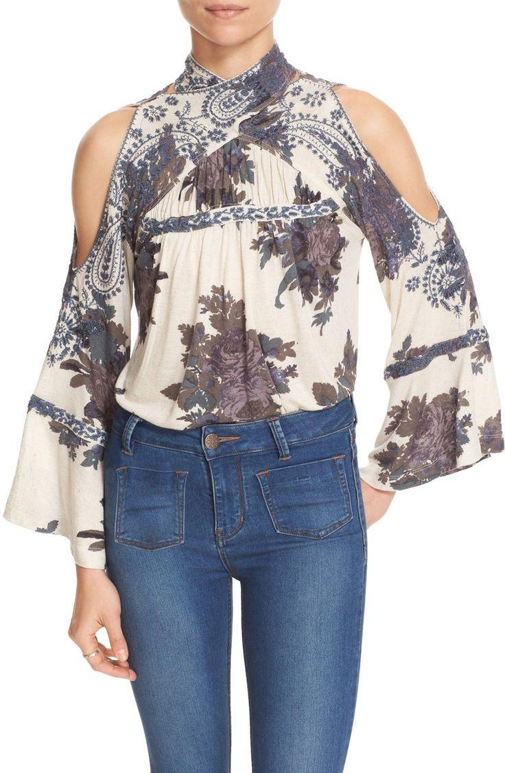 Свадьба - Free People 'Bainbridge' Embroidered Cold Shoulder Top