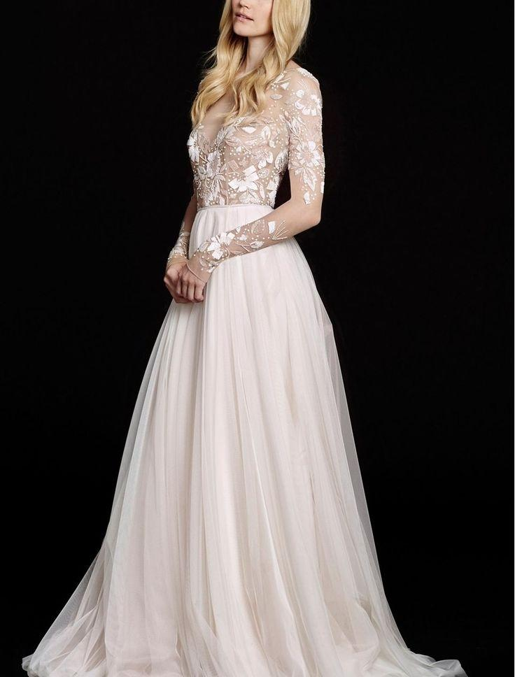 Свадьба - Hayley Paige 'Remmington' Embellished English Net Gown (In Stores Only)