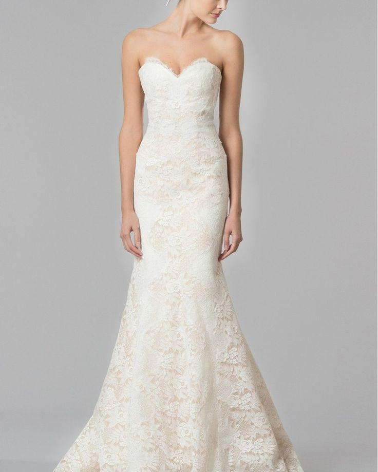 Свадьба - Carolina Herrera 'Dahlia' Strapless Lace Trumpet Gown (In Stores Only)