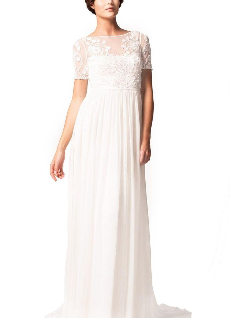 Свадьба - Temperley London 'Saffron' Illusion Neck Silk Chiffon Empire Gown (In Stores Only)
